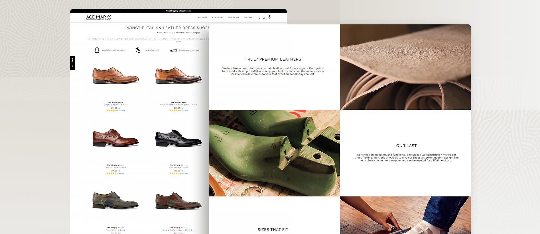 Ace Marks Luxury Italian Footwear Magento Store