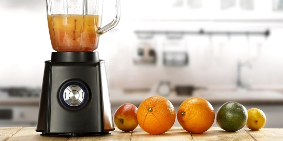 Blender and fruits